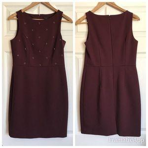 Ann Taylor Burgundy Embellished Dress - Size 6P
